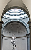 Statue of David by Michelangelo in the Galeria dell 'Accademia, Florence, Italy