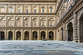 In the courtyard of the Pitti Palace in Florence, Italy