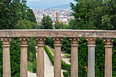 View from the Boboli Gardens of the city of Florence, Italy