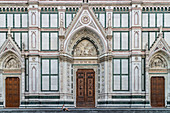 Front view of the Basilica Santa Croce in Florence, Italy