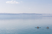 Swimming in the Dead Sea, Jordan