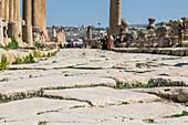 The old streets of Jerash, Jordan