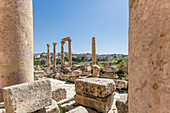 View of the remains of a Roman city in Jerash, Jordan