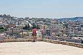 Tourists in Jerash, Jordan