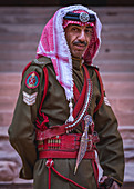 The police in the ancient city of Petra in Jordan