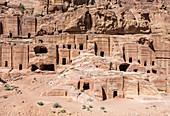 Ruins in the ancient Nabataean city of Petra, Jordan