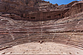 Ancient theater in the Nabataean city of Petra, Jordan