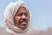 Portrait of a Bedouin in Wadi Rum, Jordan