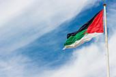 Jordanian flag in Aqaba, Jordan