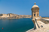 View from Senglea to Valletta, Malta