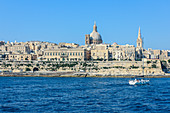 View from the sea on Valletta, Malta