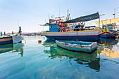 Fischerboote am Hafen von Marsaxlokk auf Malta