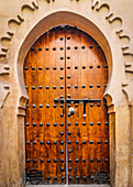 Beautiful old gate in the medina of Marrakech, Morocco