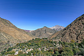View of the Atlas Mountains in Morocco