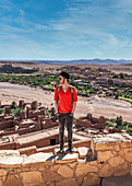View over the old city of Ait Ben Haddou in Morocco