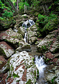 Small waterfall in the Kesselfallklamm in Semriach, Styria, Austria
