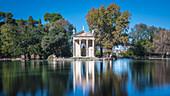 In the Villa Borghese park, Rome, Italy