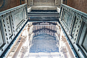 The front door of the Pantheon in Rome, Italy