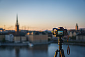 Camera with a view of Stockholm, Sweden