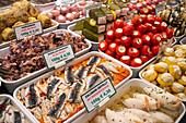 Delicacies at the Naschmarkt in Vienna, Austria