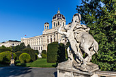 View of the Natural History Museum in Vienna, Austria