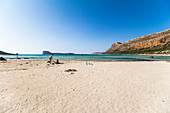 Balos lagoon and beach in the afternoon, Northwest Crete, Greece