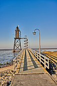 Obereversand lighthouse, Wurster North Sea Coast, Dorum, Lower Saxony, Germany