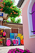 Shop with souvenirs in Caorle, Veneto, Italy