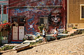 The hilly city is perhaps best known for its artistic murals, Valparaiso, Valparaiso, Chile, South America