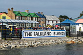 Approaching the center of Stanley, capital of the Falkland Islands, Stanley, Falkland Islands, British Overseas Territory
