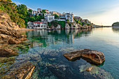The early morning view of the capital of the Greek island of Skiathos, Greece