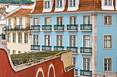 Facades of houses in Lisbon, Portugal