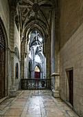 Interior view of Se de Lisboa cathedral in Lisbon, Portugal