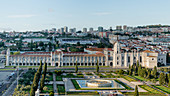 Panoramic view of the Heronymus Monastery in Lisbon, Portugal