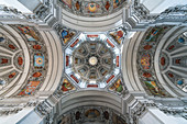 View of the dome of the Salzburg Cathedral, Salzburg, Austria