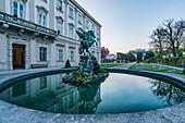 Pegasus fountain in the Mirabell Gardens in Salzburg, Austria