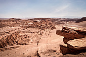 "View of the ""Valle de la Muerte"" (Death Valley, Death Valley), San Pedro de Atacama, Atacama Desert, Antofagasta Region, Chile, South America"