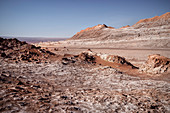 "Salt formations in the ""Valle de la Luna"" (Moon Valley), San Pedro de Atacama, Atacama Desert, Antofagasta Region, Chile, South America"