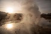 El Tatio Geysers, Atacama Desert, Antofagasta Region, Chile, South America
