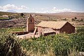 Old San Santiago Church, Socaire, Atacama Desert, Antofagasta Region, Chile, South America