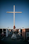 Cemetery in San Pedro de Atacama, Atacama Desert, Antofagasta Region, Chile, South America