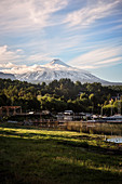 View to Villarrica volcano, Pucon, Región de la Araucanía, Chile, South America
