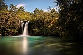 Saltos (waterfalls) of the Rio Petrohue, Region de los Lagos, Chile, South America