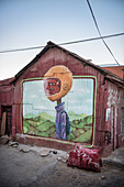 Street art in the streets of Valparaiso, Chile, South America