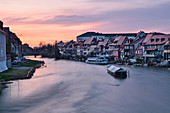 View of Little Venice in Bamberg, Regnitz, Upper Franconia, Franconia, Bavaria, Germany, Europe