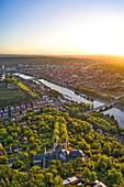 Käppele in Wuerzburg, sunrise, Lower Franconia, Franconia, Bavaria, Germany, Europe