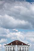 Blick auf das Schloss Nymphenburg, München, Bayern, Deutschland, Europa