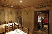 Historic guest rooms of the Locanda Cardinello, Isola, Sondrio, Lombardy