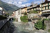 Mera and Chiavenna river, Valchiavenna, Sondrio, Lombardy