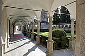 Cloister, San Lorenzo, Chiavenna, Valchiavenna, Sondrio, Lombardy